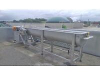 Flume Washer with Vibratory Shaker