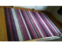Beautiful rectangle purple, grey, cream & pink rug