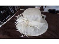 cream sinaway wedding hat