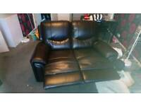 2 seater and 3 seater leather recliner sofa chairs