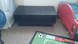 Black ash wood coffee table are can be used as a tv stand
