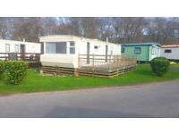 SALE STATIC CARAVAN, INCLUDES DECKING AND SITE FEES 12 MNTH SEASON LEISURE PARK NEWCASTLE NORTH EAST
