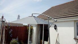 Cantilever banana parasol/umbrella