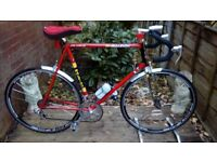 vintage retro raleigh road bike 25 inch frame