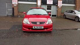 2004 Honda civic type r ep3 red k20a2 facelift not dc5 vti prefaclift