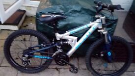 Boys mountain bike full suspension