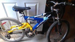 Vélo. supercycle 24 pouces double suspension 21 vitesses