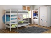 Bunk Bed - For Kids Children Juniors with Ladder on the Front (Long Edge)