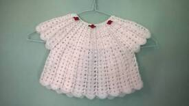 Very pretty new hand crochet baby angel top/cardigan/jumper for age approx 6-12 months