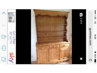 Fantastic large solid pine kitchen dresser, great condition