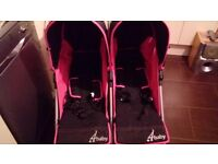 4 baby double pushchair