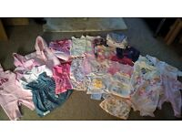 Bundle of Baby Girl Clothes 3-6 months - B