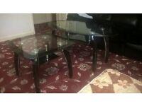 Glass Coffee & side table