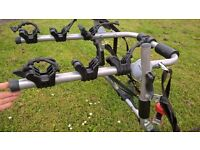 Rear Low Mount Cycle Carrier, fits 3 bikes, fastenings included