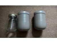 Assortment of jars, collection only