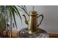 Antique gold metal jug