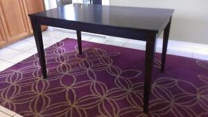 CARDIFF 1PCS ESPRESSO WOOD DINING 1 TABLE $120  1 $75 carpet rag  100% PURRE WOOL Hand-tufted
