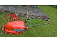 Flymo hover compact 300 mower with grassbox and extra long cable