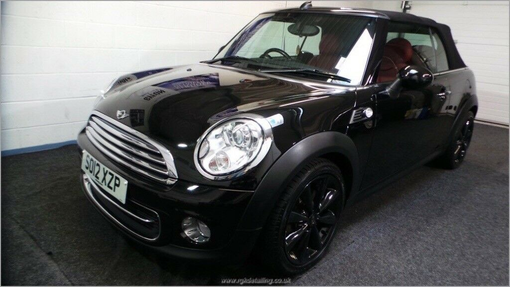 Stunning Mini Cooper Convertible Full Red Leather Interior 17 Black Alloys Automatic