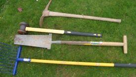 various heavy duty tools