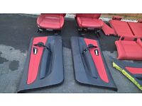 BMW 1 Series M-Sport E82 Coupe Red Leather Interior Seats Front and Rear