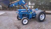 Ford 3000 with loader and rear blade