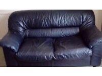Black Leather Sofa for sale. Bristol.