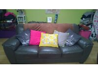 leather sofa's for sale. £250 for both 3 seater and 2 seater, collection needed