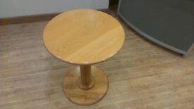 Round Wooden Pedestal table