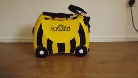 Children's Trunki travel suitcase, bee design.