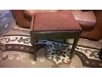 Antique Piano Stool Solid and comortable with storage