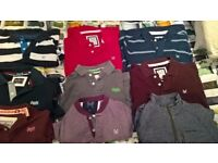 Mens clothes bundle Crew clothing, Superdry T-shirts and 1 craghoppers fleece sizes xs-m