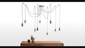 Made Starkey chandelier in nickel - didn't suit our project but looks amazing. Light bulbs inc.