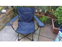 Blue Folding Camping Chair With Carry Bag