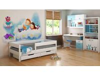 Kids Children Toddler Junior Single Bed- Mix 160x80 + Drawer