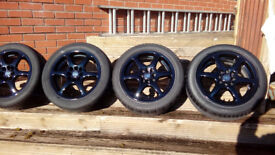 15inch REFURBISHED ALLOY WHEELS & 195 50 15 TYRES FORD RENAULT PEUGEOT CITROEN NISSAN TOYOTA