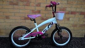Girls White & Pink Mountain Bike