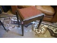 Lovely Dark Elm Antique - Piano Stool with under seat Storage Lock-Hinge