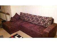 corner sofa/bed sette