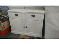 White solid wood antique dresser