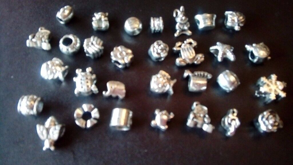 Silver Plated Bracelet Charms