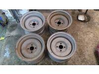 Golf MK2 Banded steel wheels pie crusts 6J x 13
