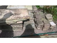 Sandstone patio slabs various sizes approx 3m x 3m