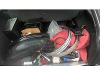 Royal Enfield Job Lot of Motorbike parts Bullet Headlight Lights Mud Guads Indicator Air Filter etc