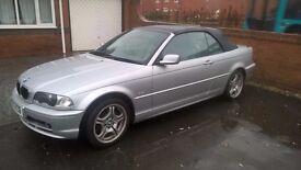 BMW 318 convertible 3 door silver