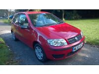 53 reg Fiat Punto 3dr , 1.2 Active in Bright Red £495.00