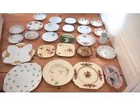 Vintage tea plates and saucers