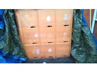Free to collect - large wooden cupbaord for upcycling