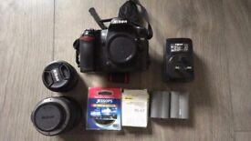 Nikon D80 + Nikkor 18-55mm lens + Nikon 50mm f/1.8G Lens + Accessories