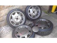 4x100 16v turbo wheels vw mk2 golf polo